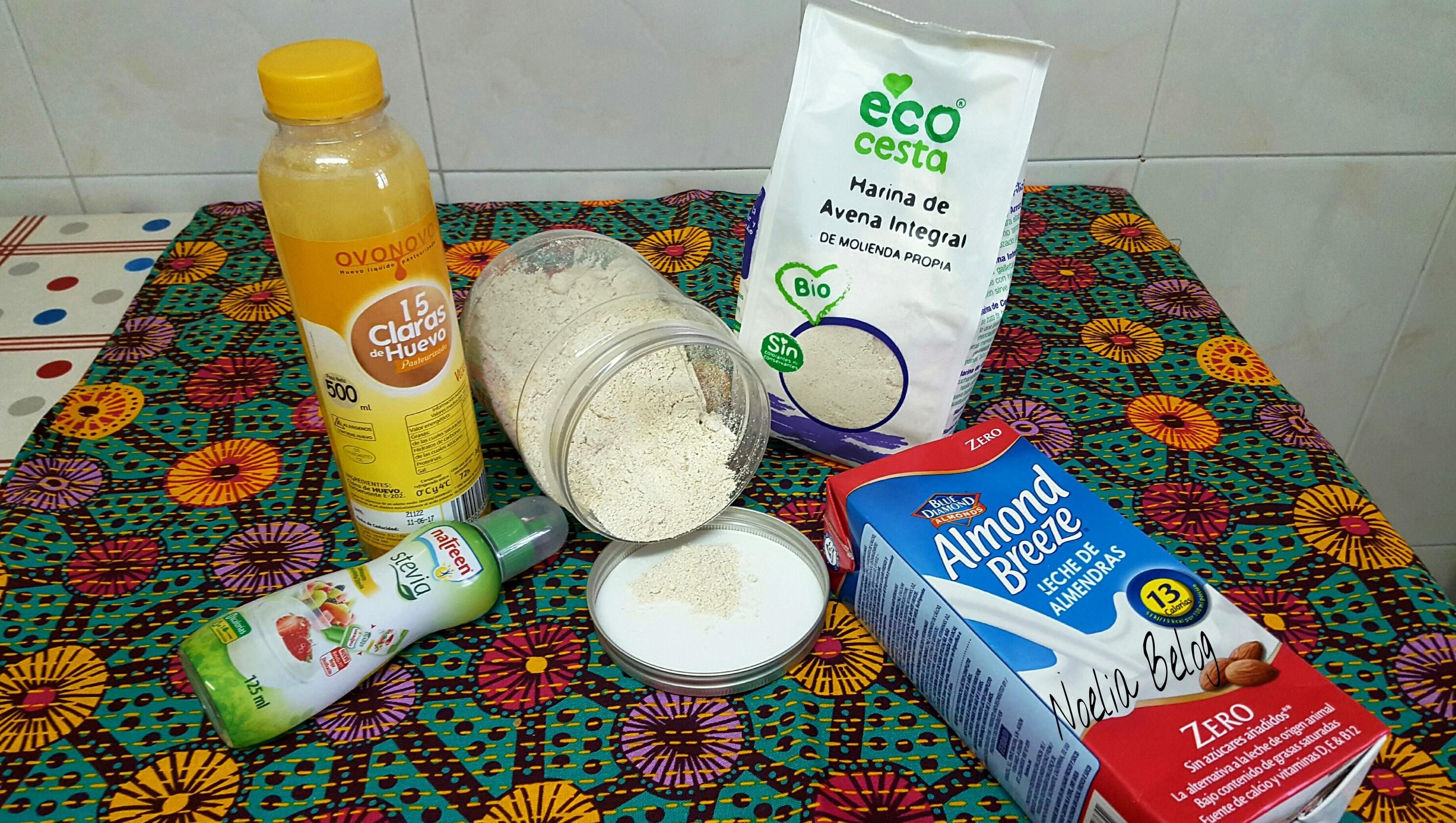 Ingredientes básicos para tortitas de avena